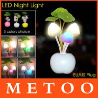 HOT Avatar Round Head Plug Electric Induction Dream Mushroom Fungus Lamp,LED Lamp 220V 3 LEDs,Mushroom Lamp led night lights