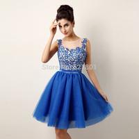 2015 new fashion Sister bridesmaid dresses The bride red brief vestido de festa fashion dress to party royal blue puls size