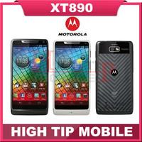 Free Shipping 100% Original Unlocked Motorola RAZR i XT890 mobile phone Android 8MP WIFI GPS 8GB ROM 3G Refurbished