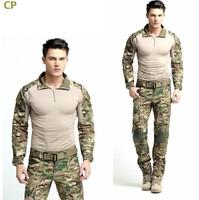 Combat Uniform Gen3 shirt+pants Military Army Suit with knee pads Multicam