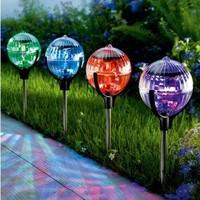 Solar Outdoor Lighting Garden Pathway LED Spot Lamps Solar Powered Panel LED Float Floating Lights Landscape Lawn Decoration