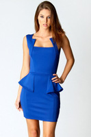 Beauty online 2014 New Sexy Vestidos Graceful Womanly Party Peplum Mini  Dress LC21283