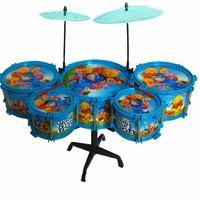 HWP Child drum rack 5 drum jazz drum Little bear style Learning & Education Toys Musical Instrument