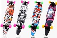 43 inch 9 level maple skateboard,shark type longboard,Highway skateboard ,streetsurfing penny skateboard,best quality with CE