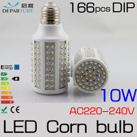 2x10W E27 166pcs DIP LED Corn Bulb Lamp Light 220V 230V 240V LED Lampadas ,Warm White 360 degree High Bright Free Shipping