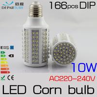 2x10W E27 166pcs DIP LED Corn Bulb Lamp Light 220V 230V 240V LED Lampadas ,Warm White 360 degree High Bright Free Shipping