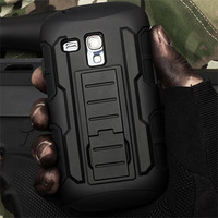 Future Armor Impact Combo Holster Hybrid Hard Case For Samsung Galaxy S3 Mini i8190 2015 New Mobile Phone Cases + Flim + Stylus