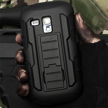 Future Armor Impact Belt Clip Hard Case + Holster For Samsung Galaxy S3 Mini i8190 Mobile Phone Cases + Flim + Touch Stylus(China (Mainland))