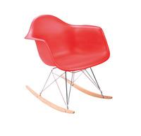 2 pieces/lot PP plastic seat , chromed steel  leg Eames RAR rocking chairs