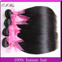 OM Hair: 5A Virgin Brazilian Straight Hair Wft Rosa Hair Products100g/pc Color #1B 4pcs/lot Cheap Human Hair Weave Free Shipping