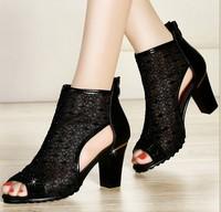 Guciheaven women's sandals 2014 new, summer high-heeled shoes, bud silk sandals , casual  sandals