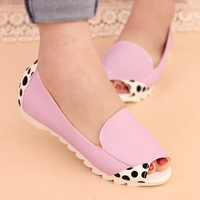 Summer new level with the fish head cool Peas casual pumps leopard women's Sandals Female shoes lady Footwear girls