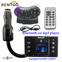 The Newest 1.5 inch Hands Free Call Bluetooth Car Kit  FM Transmitter Car MP3 for Car Steering Wheel remote control,FreeShipping
