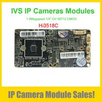 "1.0MP IP Camera Module 720P Support Intelligent Video Analytics (Hi3518C + 1/4"" OV 09712 CMOS)"