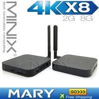 MINIX NEO X8 Android 4.4 TV Box Quad Core 2GB+8GB mini pc RJ-45 WiFi XBMC Smart TV Box Media Player with Remote Controller