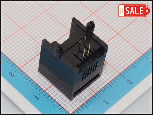 Samples (10Pcs/lot) Black 6P4C RJ11 Female PCB Mount Telephone Modular Connector Socket Interface For Plug Jack(China (Mainland))