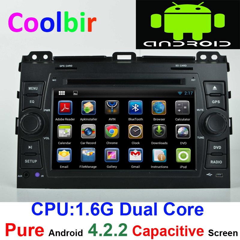 Toyota Prado Land Cruiser LC FJ 120 Pure Android 4.2 car dvd player gps Radio 2002 2003 2004 2005 2006 2007 2008 2009 +gift(China (Mainland))