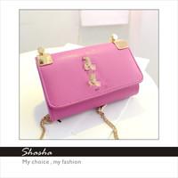 new 2014 famous brand designer women messenger bags YS  handbag girl metal chain bag purse women's wallets genuine leather