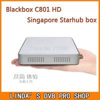 Free shipping Latest StarHub box Singapore blackbox c801 hd + free wifi adapter cable TV Receiver better than MVHD MUX For HD !