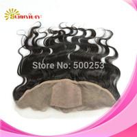 Stock (13x4) Silk top lace frontals 6a Grade Natural Color Peruvian Body Wave  Virgin Hair Silk Base Lace Frontals Closure Piece