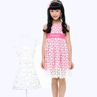 Free shipping girls dress 2014 new arrivales girls dresses one-piece children dresses girls princess Lace dress