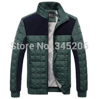 Venda quente 2014 nova moda homens jaqueta de inverno Outerwear Casual Sportswear jaqueta esporte roupas homens tamanho grande M-3XL J429(China (Mainland))