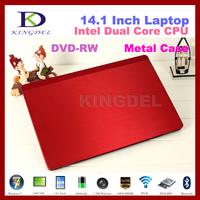 "4GB RAM+500GB HDD 14.1"" Laptop Notebook Computer Intel N2600 Dual Core Quad Threads 1.6Ghz 1080P HDMI, DVD-RW, Webcam Bluetooh"