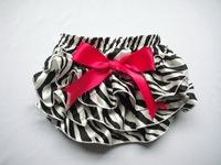 New Style Baby Zebra Print Satin Bloomers Little Girls Layers Ruffle Shorts with Ribbon Bow Kids Skirts Underwear 3Size 6Pcs/Lot