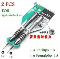 New Professional Repair Tools call phone screw driver 5 star Pentalobe 1.2+Phillips 1.5 #000 Screwdriver For Apple Macbook Air