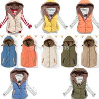 New 2014 Vest Women Wool Winter Dress Women's Vest Thermal Down Cotton Vest Women All Match Waistcoat Woman Sleeveless Jacket