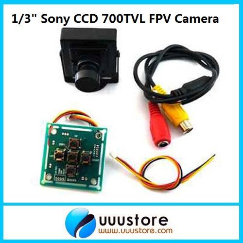 Камера наблюдения UUUSTORE 1/3 Sony CCD 700 HD FPV 3.6mm OSD 700TVL camera sony hd 960h 1 3 sony effio e ccd 700tvl mini bullet security analog monitoring cctv camera 3 7mm lens free shipping