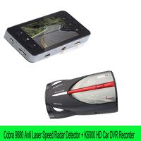 Cobra XRS 9880 Radar Anti Laser Speed Detector Russian/English+K6000 Car Camera Novatek Car Video Recorder G-sensor Car DVR