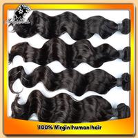 "Free shipping Fashion style 4pcs/lot 5A Peruvian Loose wave 12""-26"" 100% virgin human hair beauty hair weave"
