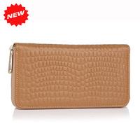 Best Selling Wallet Women Genuine Leather Purse Female Fashion Stone Pattern Day Clutch Zipper Bag, YW-DM528