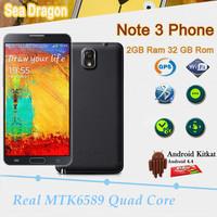 "HDC Note3 Note III phone Android 4.3 MTK6582 5.7"" 1920x1080 2GB RAM 16G ROM 13MP Dual Camera N9000 N9006 Note 3 Phone"