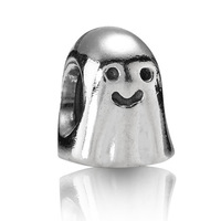 2014 New! Wholesale Free Shipping 925 Silver Ghost Charm Beads For Bracelets & Bangles DIY #X402