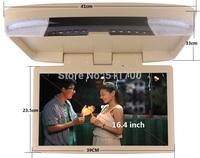 16.4 Inch Car Overhead Monitor,IR/FM,USB,SD Slot,MP3/MP4/MP5 Player,1366x768,Car Roof Mount Flip Down Monitor