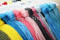 Free Shipping Top Grade 50PCS/lot Similar DMC Cross Stitch Floss Thread any colors 1.3 meters/pcs