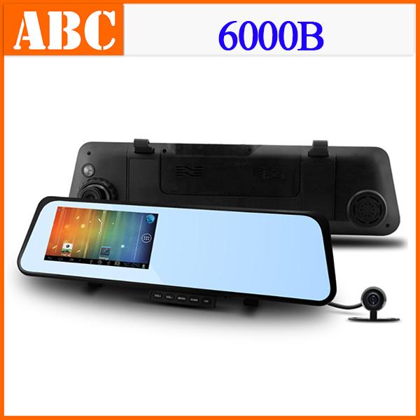 6000B Car DVR WIFI GPS Navigation Camera with Rear View Mirror Recorder 1080P 30FPS H.264 140 Wide Lens IR Night Vision -W(Hong Kong)