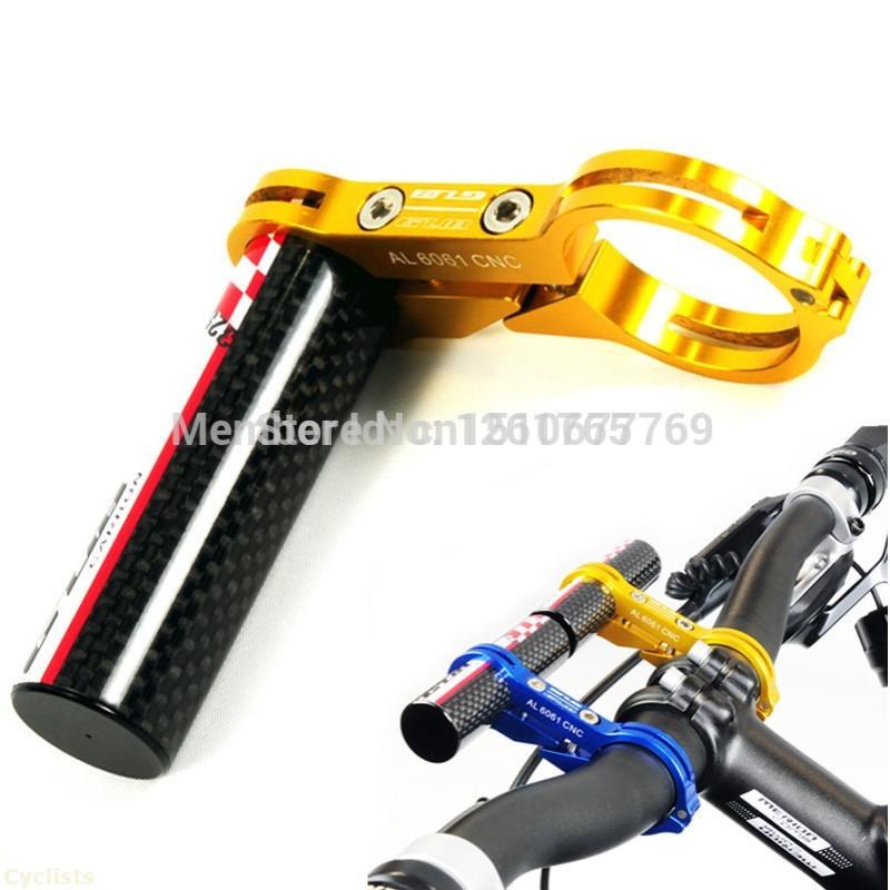 NEW Carbon Fibre Handle Bar Extender Mount CNC Aluminium handlebar Bike MTB Bicycle Flashlight Code table GPS Camera wholesale(China (Mainland))