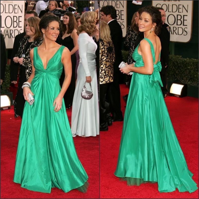 Green Long Dress Red Carpet Celebrity Red Carpet Dress