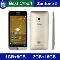 Free shipping Original zenfone 5 Dual core smpartphone Corning Gorrila 3 Intel Atom z2560 z2580 Android 4.3 2GB RAM 16GB ROM