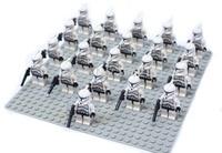 21pcs/lot white clone trooper Minifigure compatible Building Block doll,Star wars Brick accessory WOMA Sluban Decool