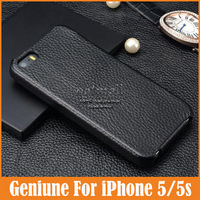 Luxury Cases Flip Genuine Leather Case For Iphone 5 Cover Pouch Phone Protector For iPhone 5 Covers Fashion Bag Free Shipping