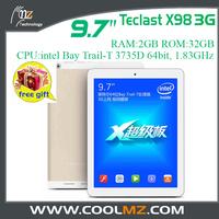 Teclast X98 3G Tablet PC 9.7Inch Retina Screen 2048x1536 Intel Bay Trail-T 3735D 64bit CPU Android 4.2 2GB RAM 32GB GPS