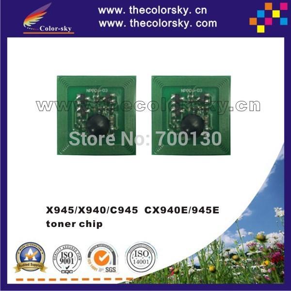 (TY-LX945T) toner cartridge reset chip for Lexmark X945 X940 X C 945 940 C945 CX940E CX945E CX 940E 945E kcmy 38K 22K free DHL(China (Mainland))