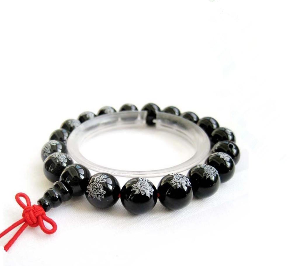 O envio tibetanos budistas Ágata Beads gratuito Oração Mala Bracelet E2812(China (Mainland))