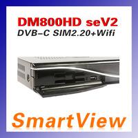 1pc DM800se V2 DVB-C Cable Receiver DM800HD se V2 with SIM2.20 300Mbps Wifi 1GB Flash 521MB RAM HbbTV  Web browser Free Shipping