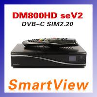 1pc DM800se V2 DVB-C Cable Receiver DM800HD se V2 with SIM2.20 1GB Flash 521MB RAM HbbTV  Web browser linux Free Shipping