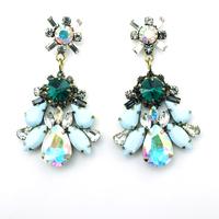 New Fashion accessories bling vintage shourouk crystal drop women flower drop Earrings shourouk bijoux brincos Free shipping